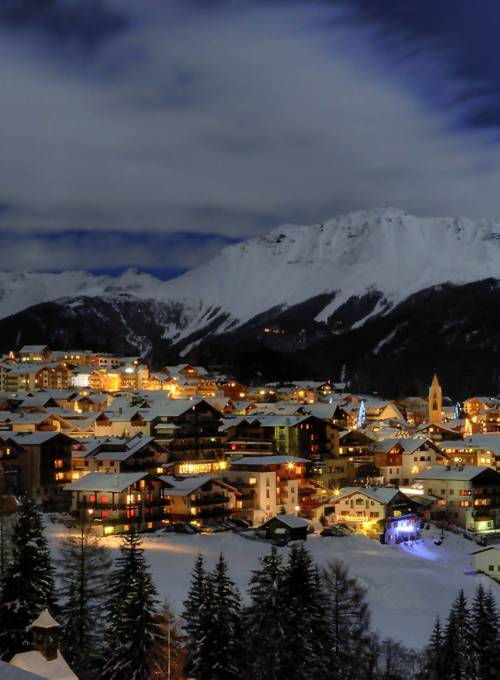 Serfaus Winter Abend